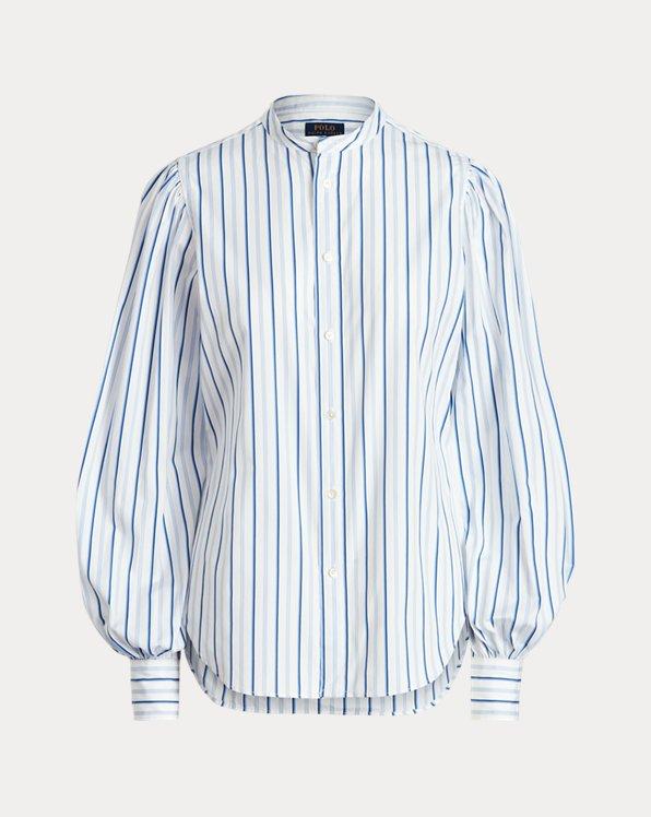 Cotton Blouson-Sleeve Shirt