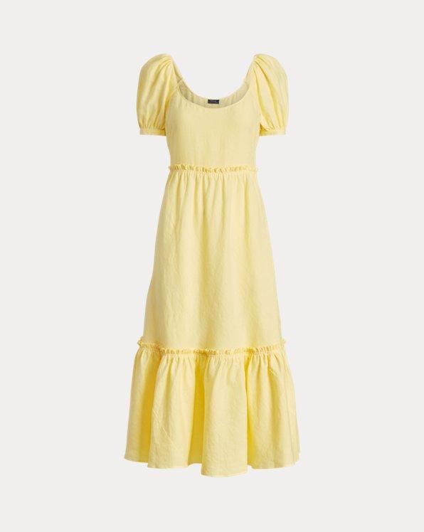 Linen Short-Sleeve Dress