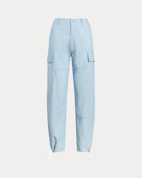Chambray Cargo Trouser