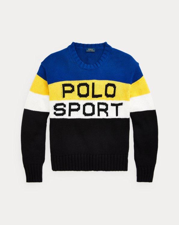 Colour-Blocked Polo Sport Jumper