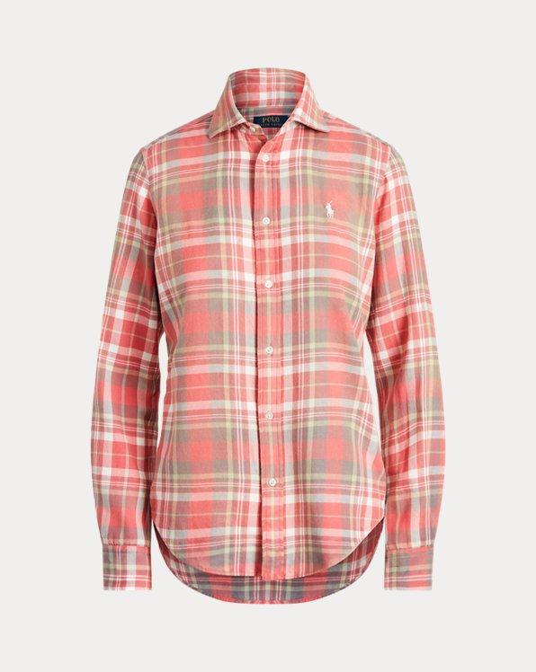 Classic Fit Plaid Cotton Shirt