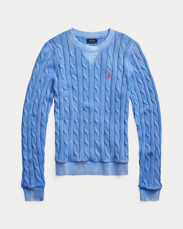 Cable-Knit Cotton Pullover