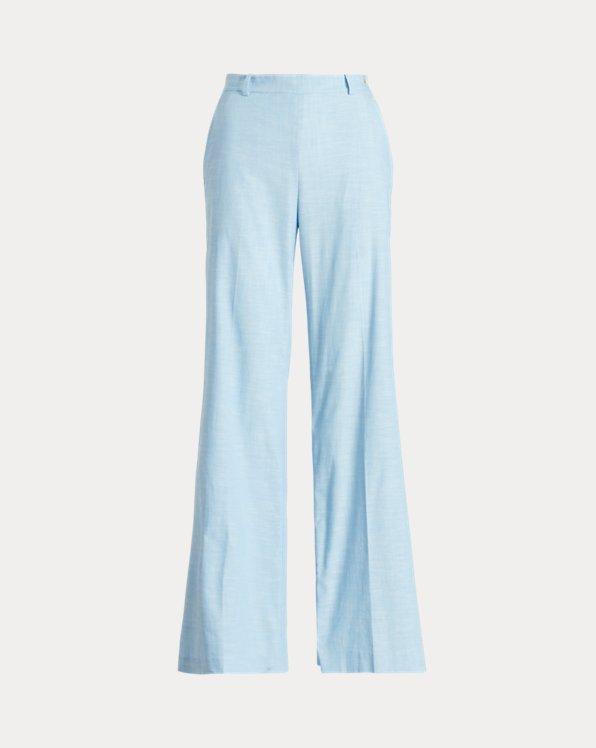 Buttoned-Placket Cotton Trouser
