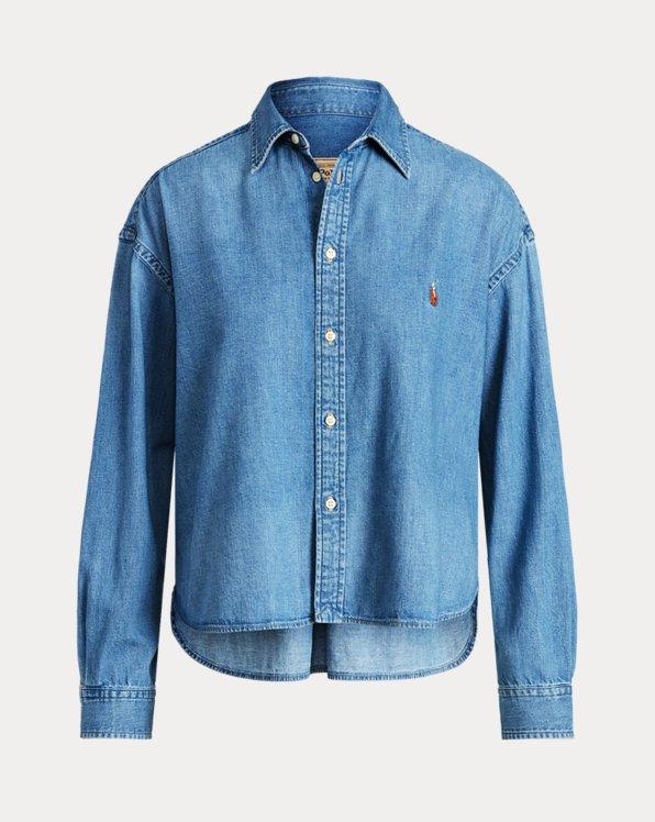 Denim High-Low Shirt