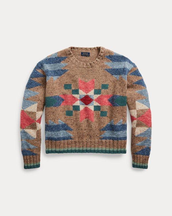 Southwestern Wool-Blend Sweater