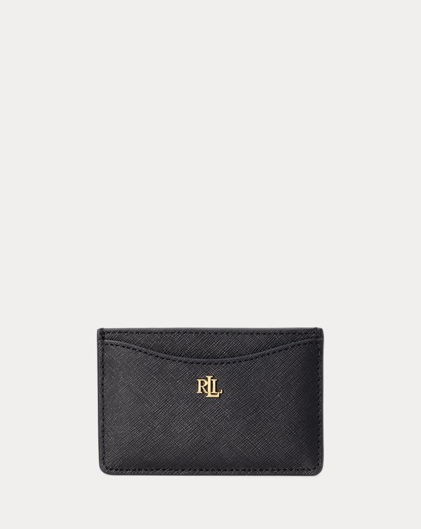 Crosshatch Leather Card Case