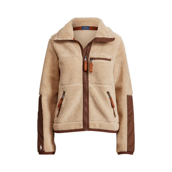 폴로 랄프로렌 우먼 에코퍼 시어링 자켓 - 카멜 Polo Ralph Lauren Faux Shearling Jacket 586124