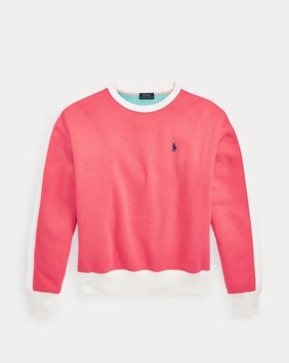 Colour-Blocked Fleece Sweatshirt