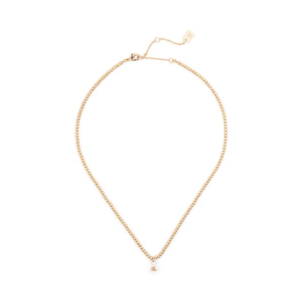 Lauren Ralph Lauren Two-tone Padlock Pendant Necklace In Gold