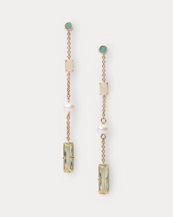 Multicolored Stone Drop Earrings