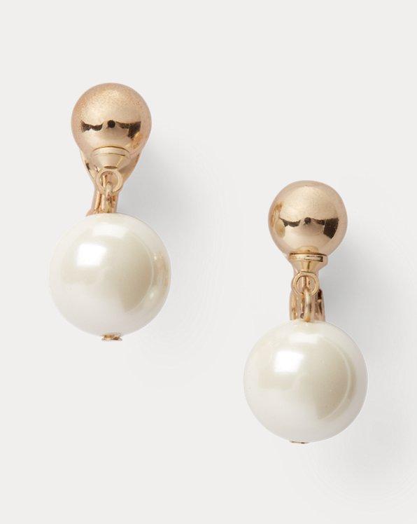 Gold-Tone Pearl Drop Earrings