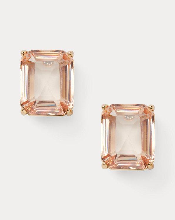 Rose Stone Stud Earrings