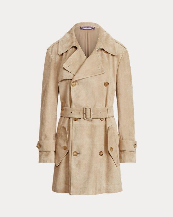 Arlington Lamb-Suede Trench Coat