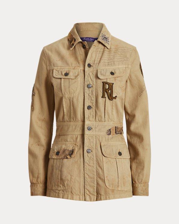 Bacall Embellished Cotton Jacket