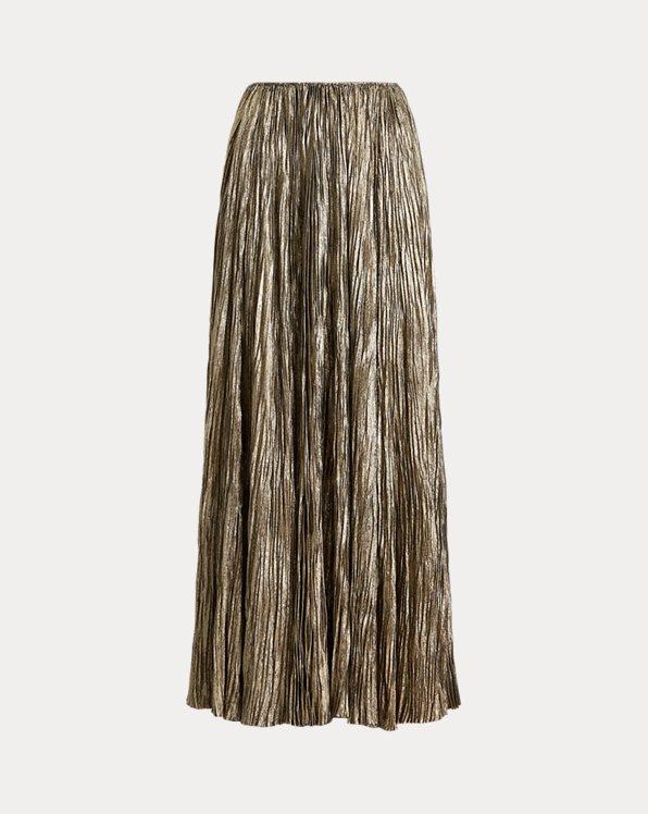 Isla Laminated Pleated Maxiskirt