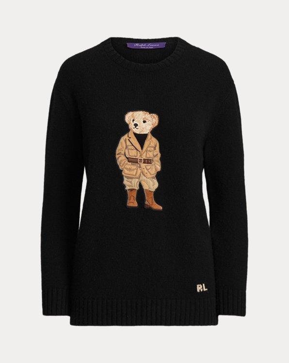 Safari Polo Bear Cashmere Sweater