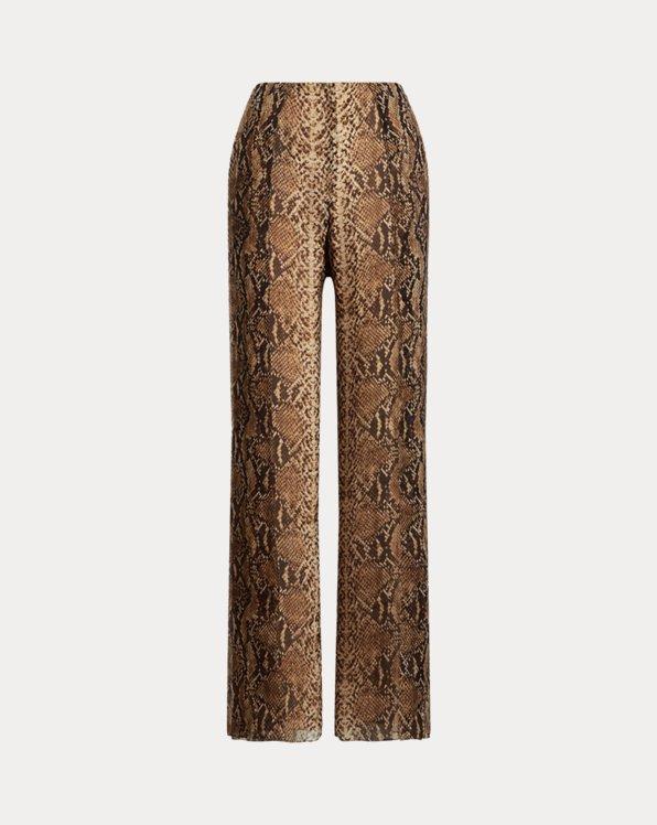 Saunders Python Silk Crepe Pant