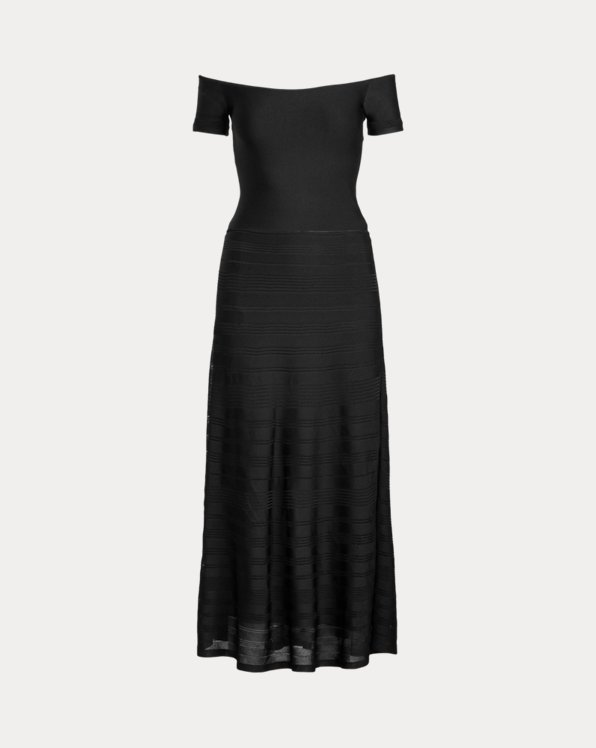 Knit Off-the-Shoulder Cocktail Dress