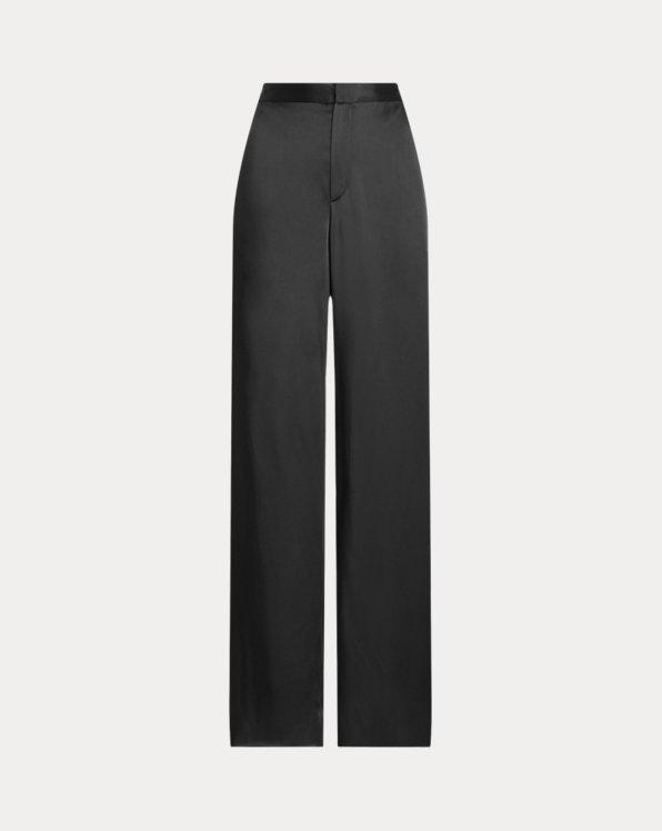 Daneila Satin Wide-Leg Pant