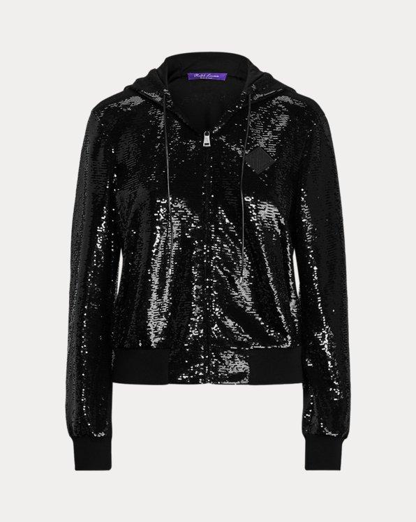 Taryn Embellished Zip-Front Jacket