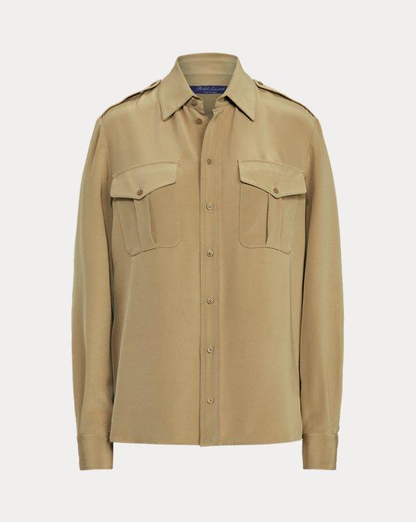Natalie Silk Marocain Shirt