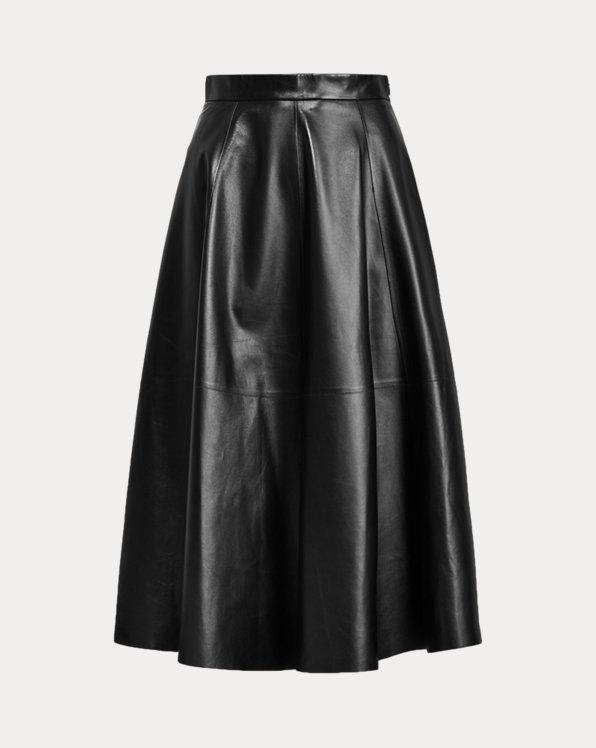 Christiane Lambskin Skirt
