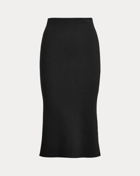 Wool-Blend Pencil Skirt