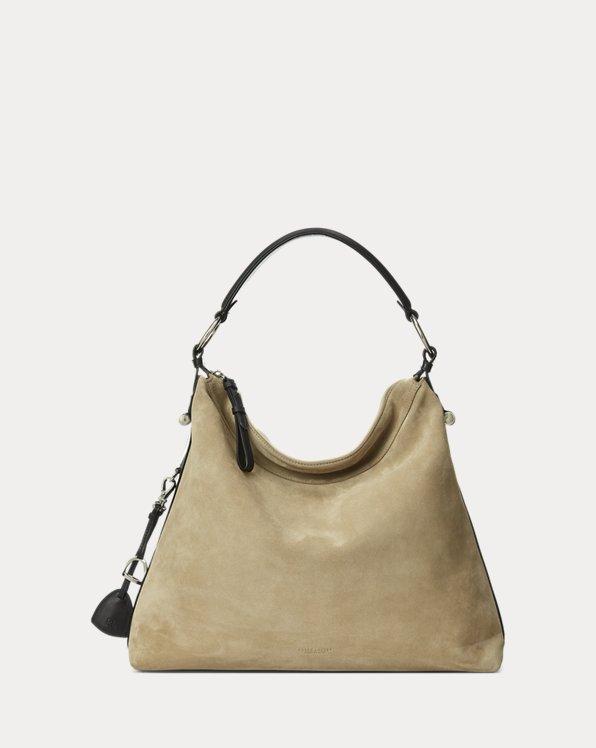 Calf-Suede Medium Bridle Bag