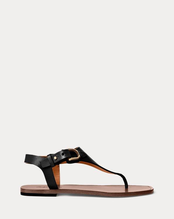Delancie Burnished Calfskin Sandal