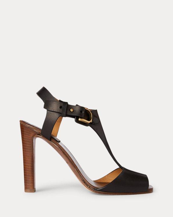 Emilie Burnished Calfskin Stirrup Sandal