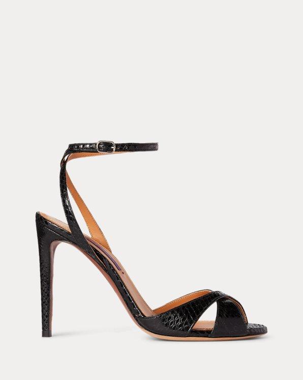Kandice Ayers Snakeskin Sandal