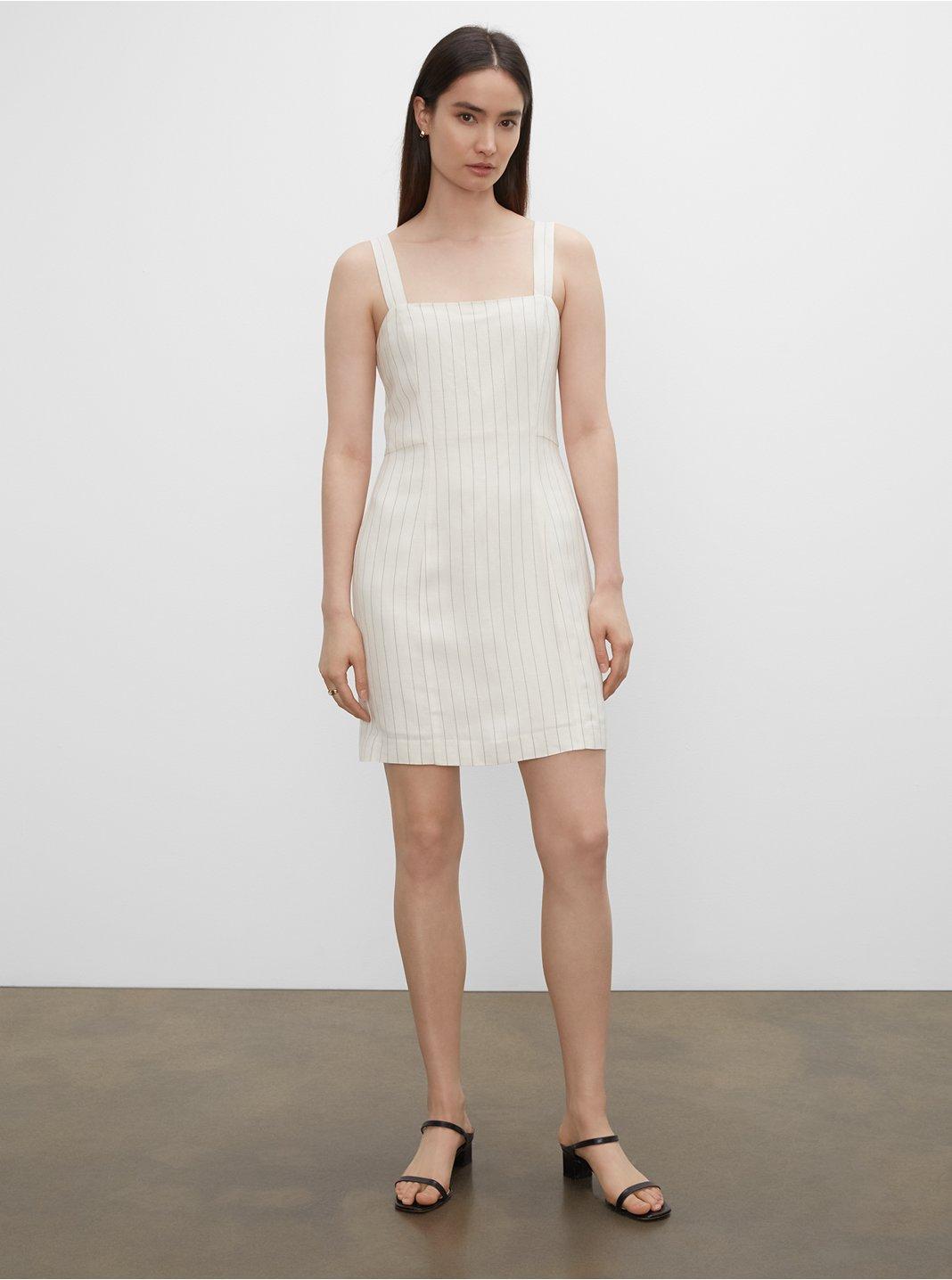 Striped Square Neck Mini Dress