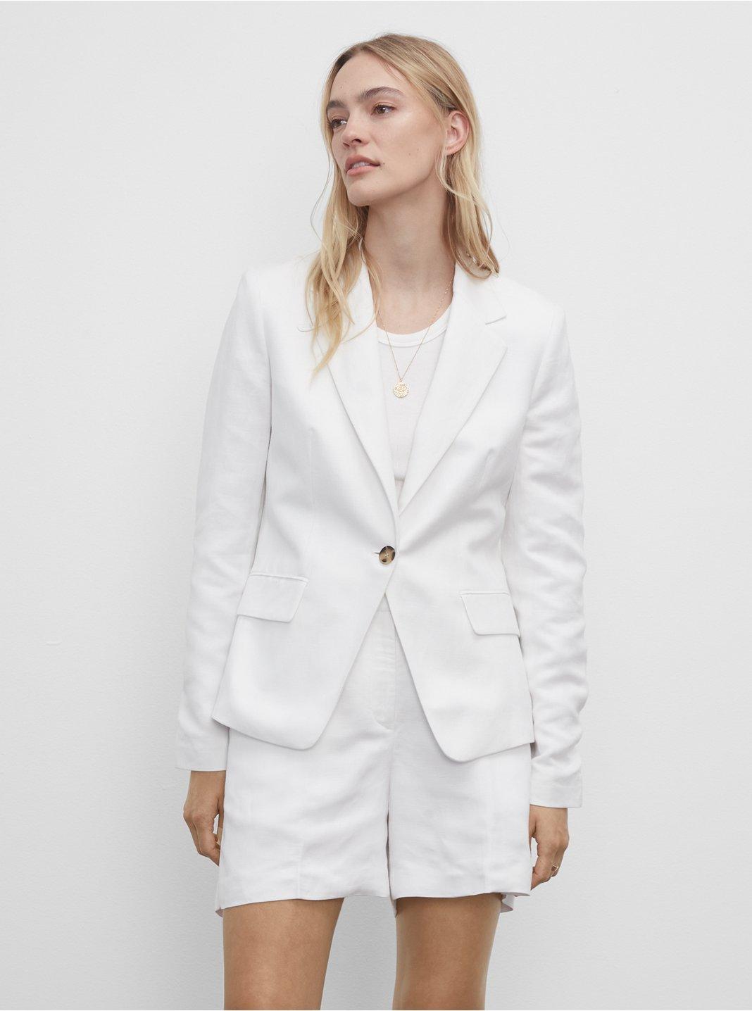클럽 모나코 셋업 자켓 Club Monaco Classic Linen Blazer,White