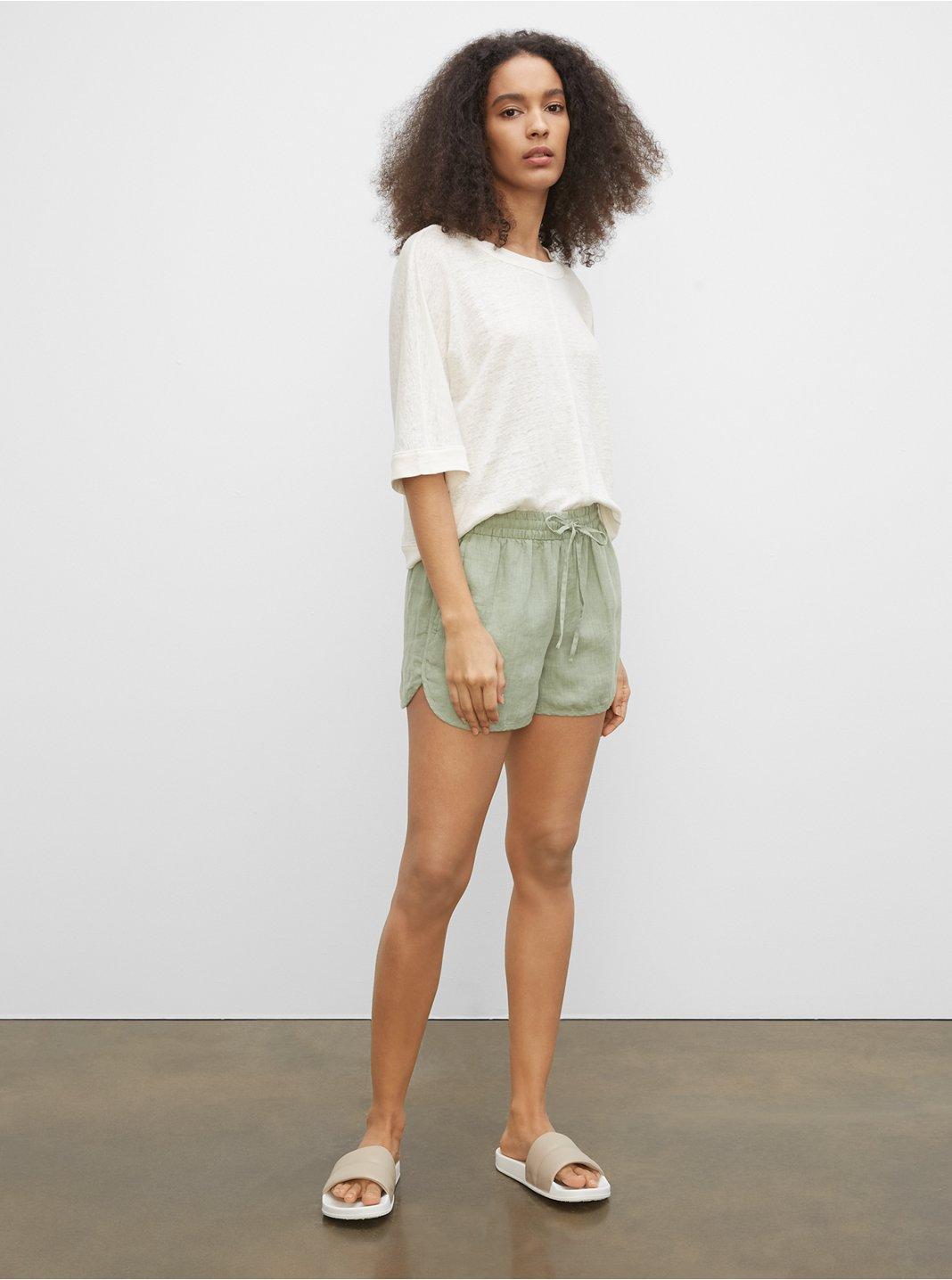 Linen Jog Shorts
