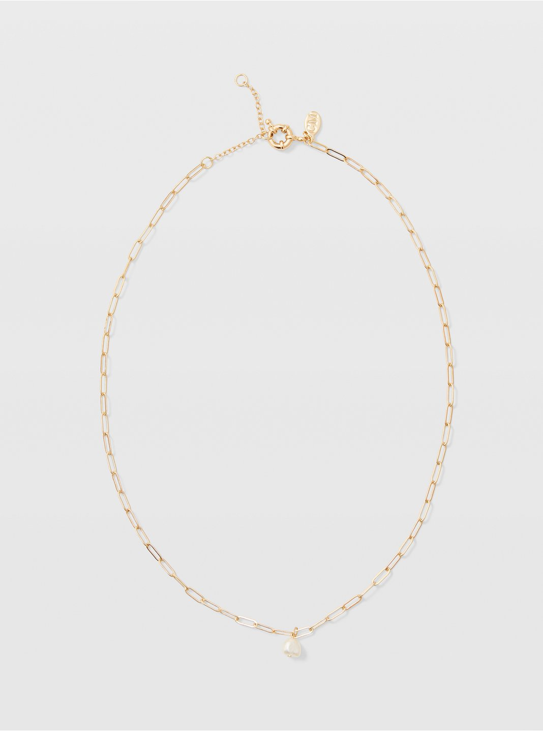 Long Mini Pearl Necklace