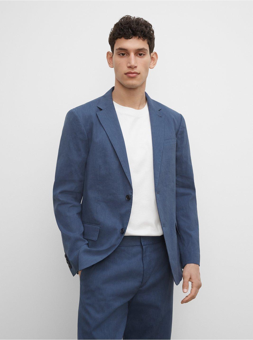 CM Linen Blend Suit Blazer