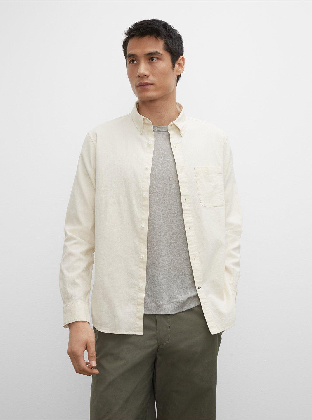 Slim Linen Blend Shirt
