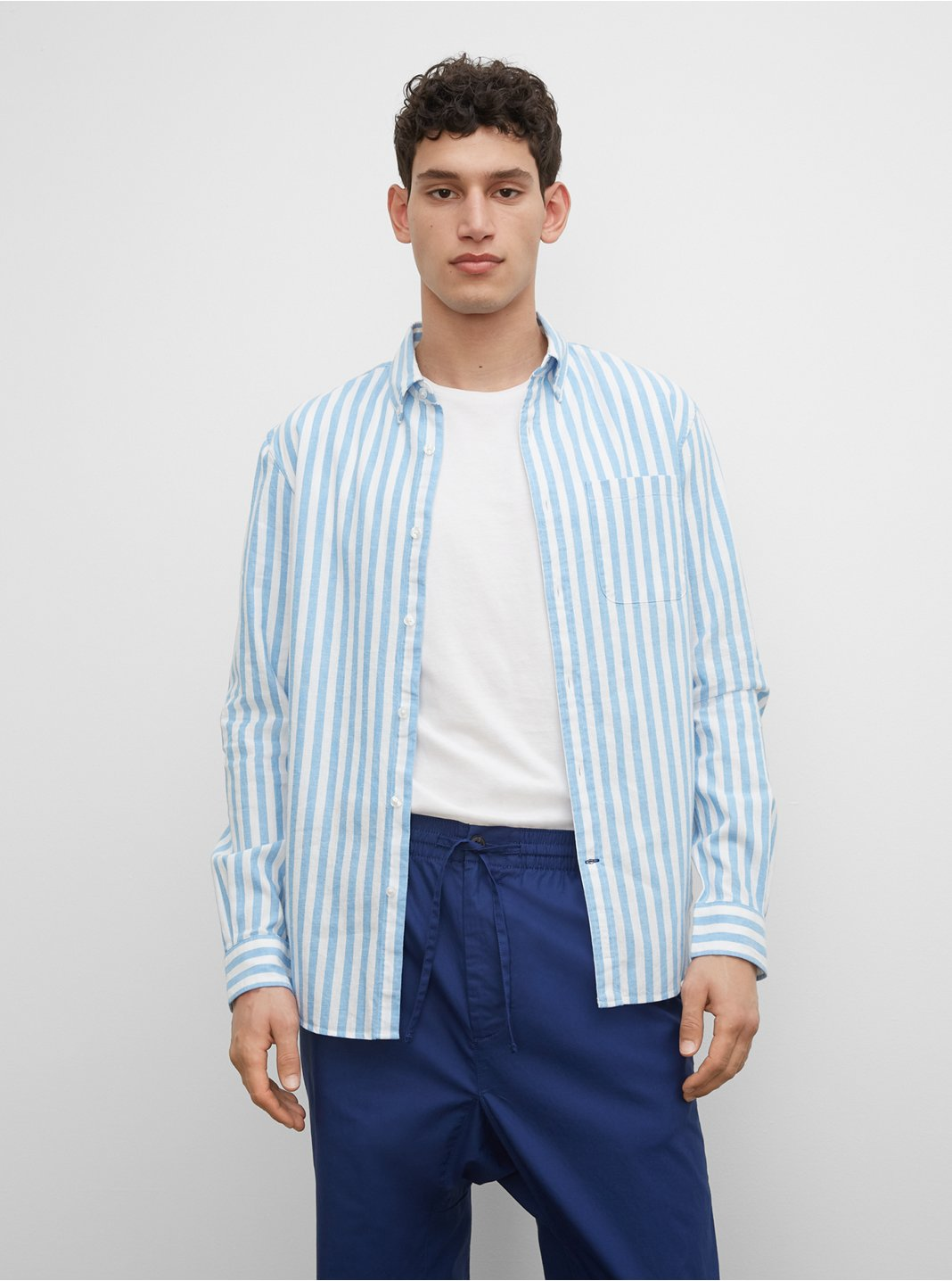 Slim Striped Linen Shirt