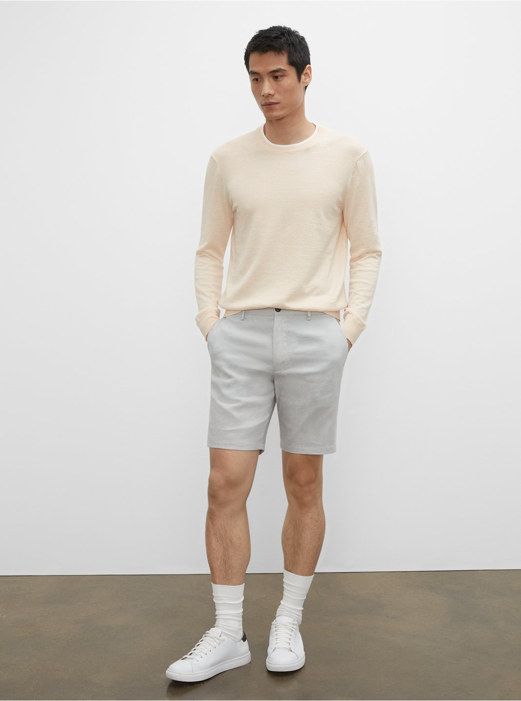Shorts en lin Maddox 23cm (9po)