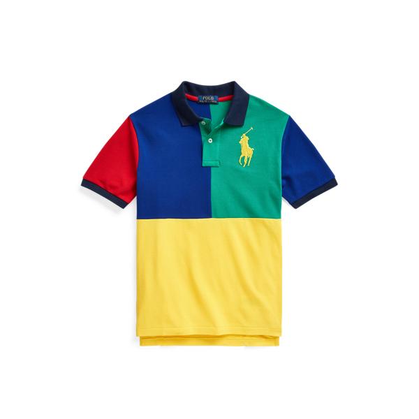 Polo Ralph Lauren Kids' Big Pony Cotton Mesh Polo Shirt In Multi