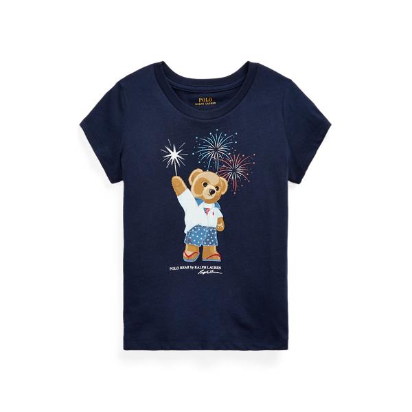 폴로 랄프로렌 여아용 폴로 베어 티셔츠 Polo Ralph Lauren Polo Bear Cotton Jersey Tee,French Navy