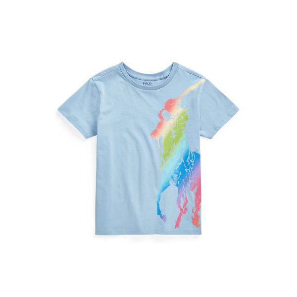 Polo Ralph Lauren Kids' Big Pony Cotton Jersey Tee In Blue