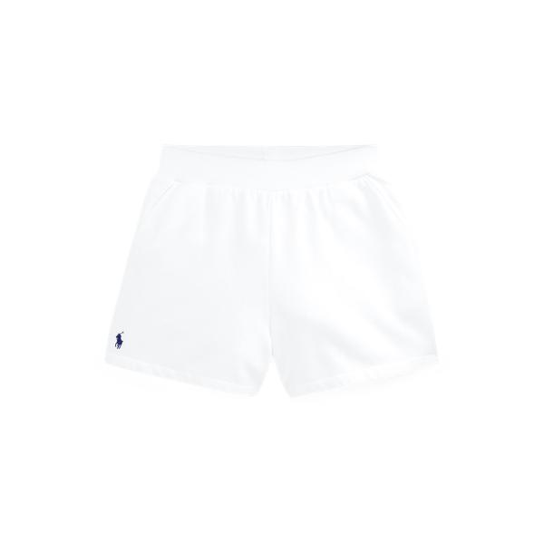 폴로 랄프로렌 걸즈 포니 밴딩 반바지 Polo Ralph Lauren Fleece Pull On Short,White
