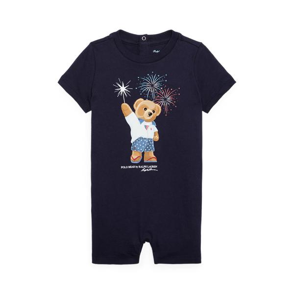 Ralph Lauren Babies' Polo Bear Cotton Jersey Shortall In Cruise Navy