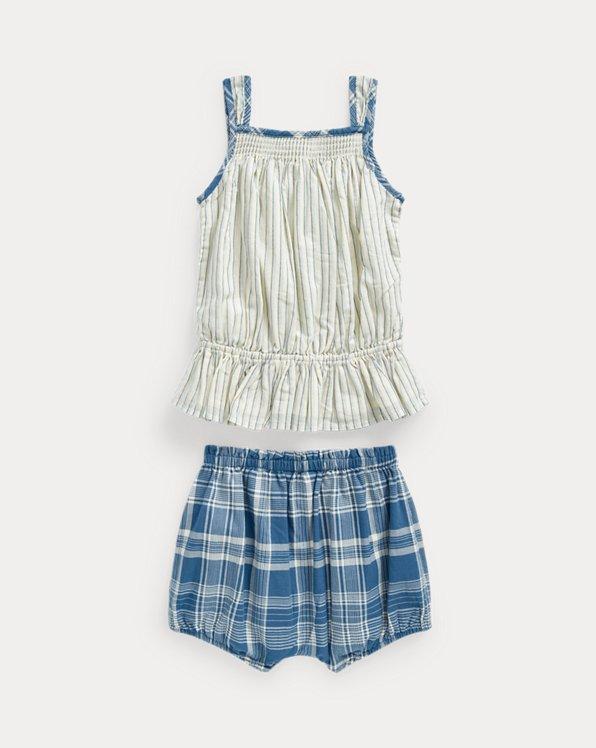 Striped Top & Bloomer Short Set