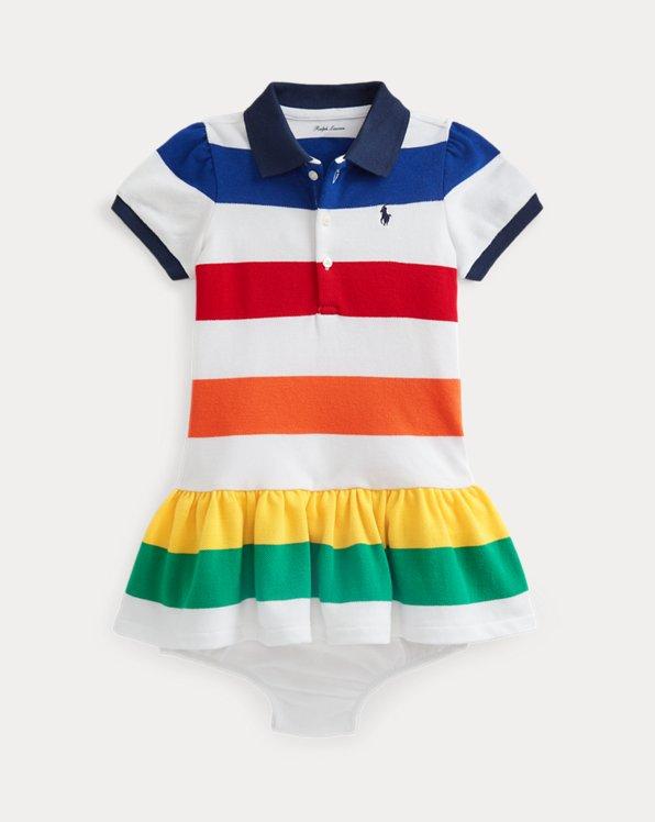 Striped Ruffled Dress & Bloomer
