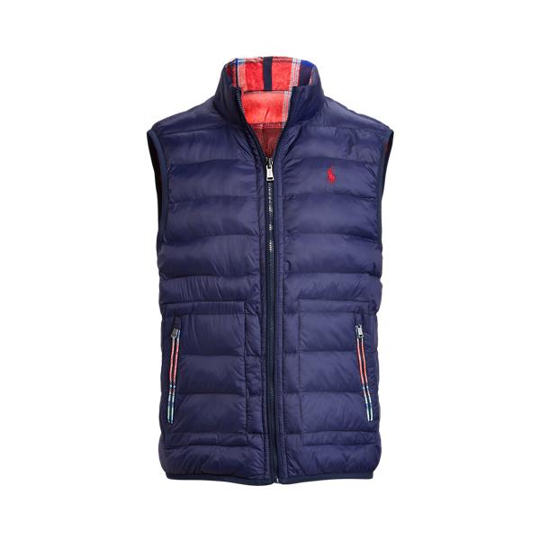 폴로 랄프로렌 남성 골프웨어 Polo Ralph Lauren Reversible Water Repellent Vest,Match Plaid