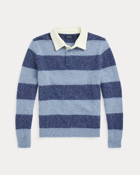 Striped Wool Rugby Jumper
