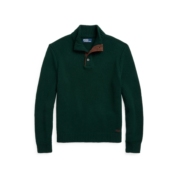 폴로 랄프로렌 맨 울 모크넥 스웨터 Polo Ralph Lauren Wool Mockneck Sweater,Hunt Club Green