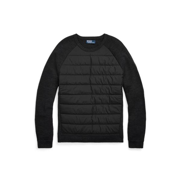 폴로 랄프로렌 맨 하이브이드 스웨터 Polo Ralph Lauren Hybrid Crewneck Sweater,Dk Charcoal Heather/Black